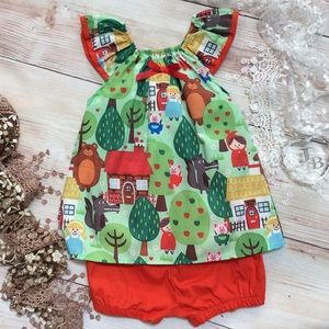 Other - Boutique Girls Story Book 2pc Outfit
